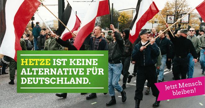 Hetze ist KEINE Alternative für Deutschland